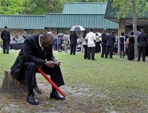 Walter Scott funeral best man mourning