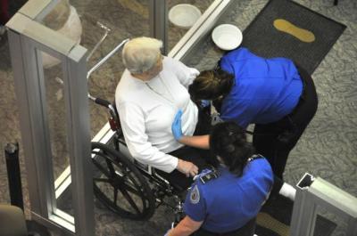 TSA searches woman in wheelchair