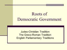 American democray - Judeo-Christian Greco-Roman, Englis